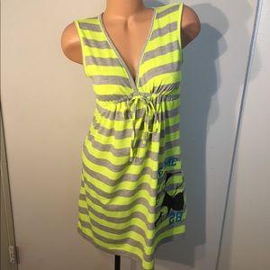 Disney Minnie striped dress/cover up size M 7/9